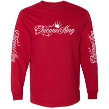 Load image into Gallery viewer, Chicano King Classic Long Sleeve T-Shirt Red Front