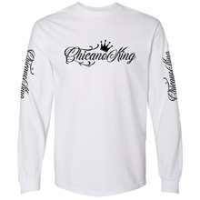 Load image into Gallery viewer, Chicano King Classic Long Sleeve T-Shirt White Front