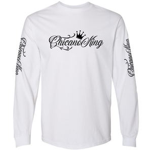 Chicano King Classic Long Sleeve T-Shirt White Front