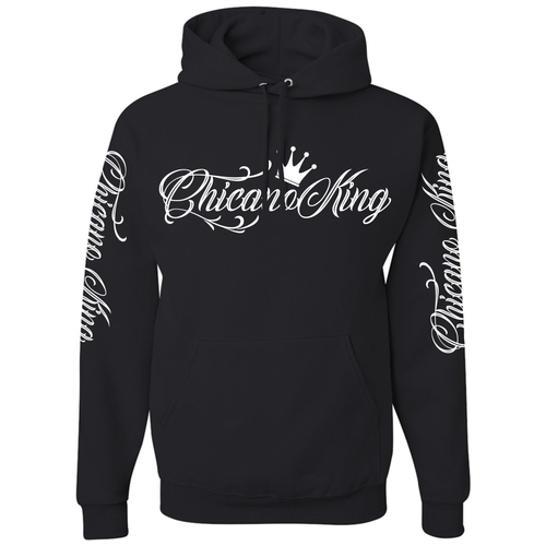 Chicano King Pullover Hoodie Sweatshirt Black