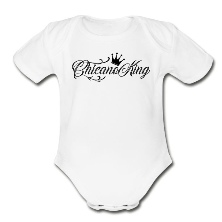 Baby Chicano King Organic Onsie - white