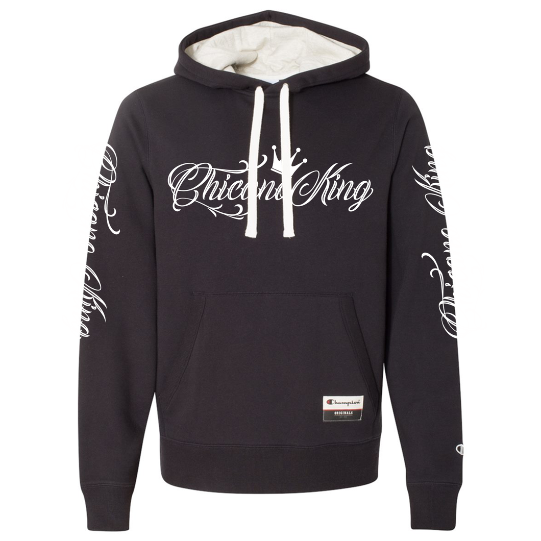Chicano King Champion Sueded Fleece Pullover Hoodie Black