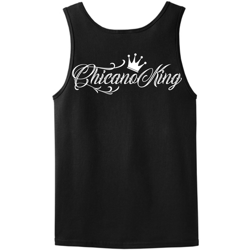 Chicano King Classic Tank Top Black Front