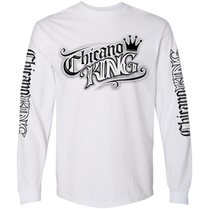 Chicano King Tattoo Long Sleeve T-Shirt