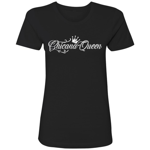 Chicana Queen Boyfriend Tee Black