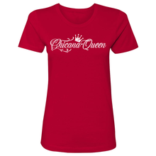 Load image into Gallery viewer, Chicana Queen Boyfriend Tee Red Front