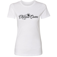 Load image into Gallery viewer, Chicana Queen Boyfriend Tee White Front