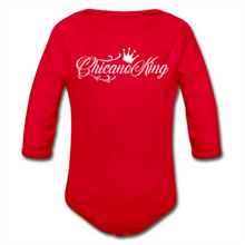 Load image into Gallery viewer, Baby Chicano King Organic Long Sleeve Onesie - Red