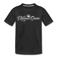 Load image into Gallery viewer, Toddler Chicana Queen Premium Cotton T-Shirt Black