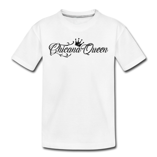 Toddler Chicana Queen Premium Cotton T-Shirt White