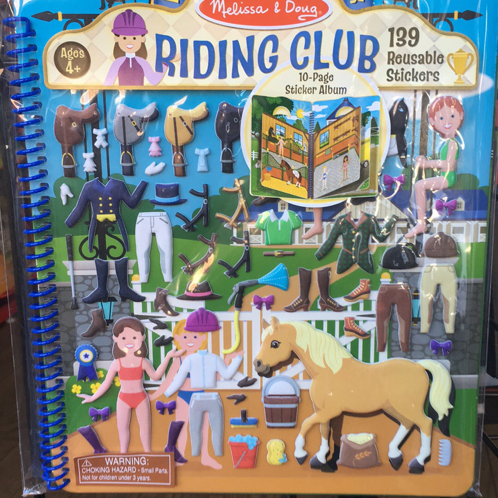 Puffy Sticker Activity Book~Riding Club