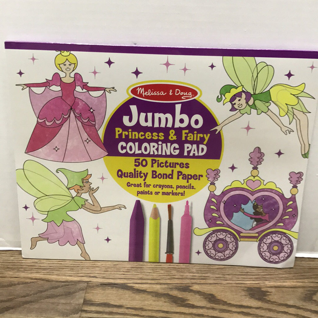 Jumbo Coloring Pad~Princess and Fairy