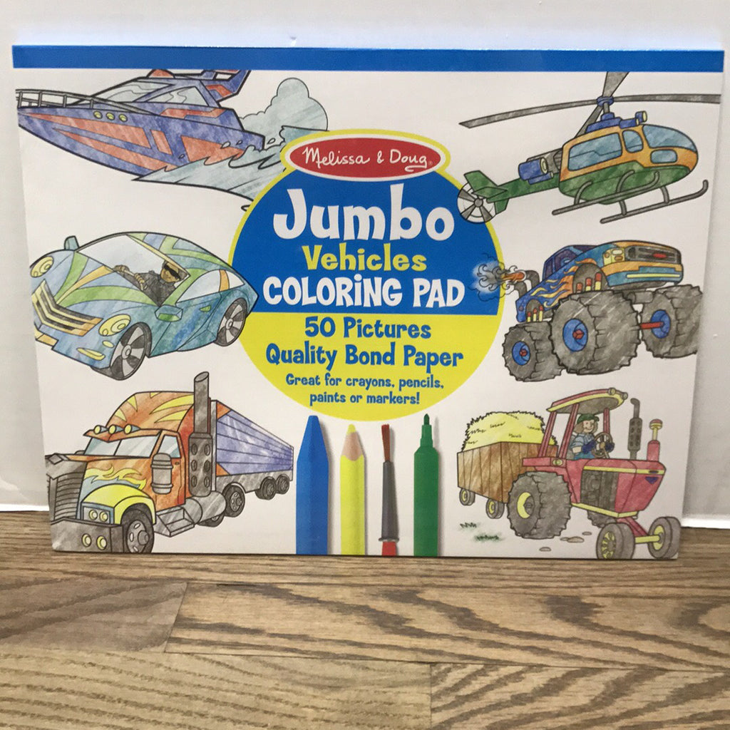 Jumbo Coloring Pad~Vehicles