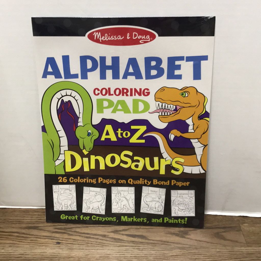Dinosaurs Alphabet Coloring Pad