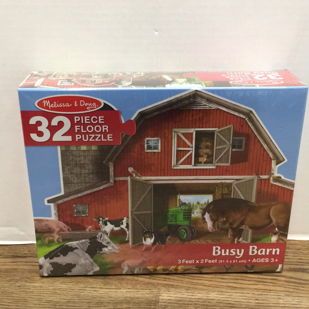 Busy Barn Shaped Floor Puzzle 32 pc