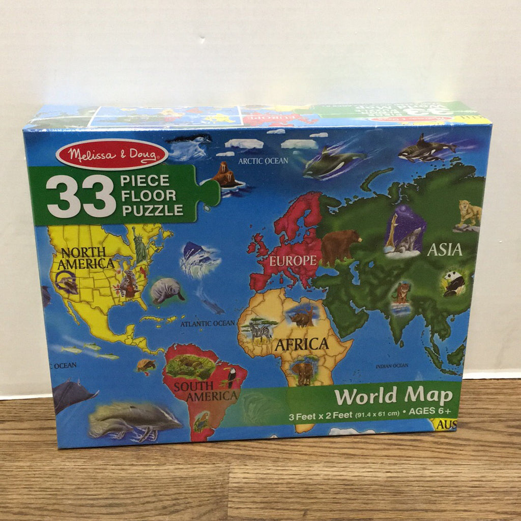 World Map Floor Puzzle - 33 pc