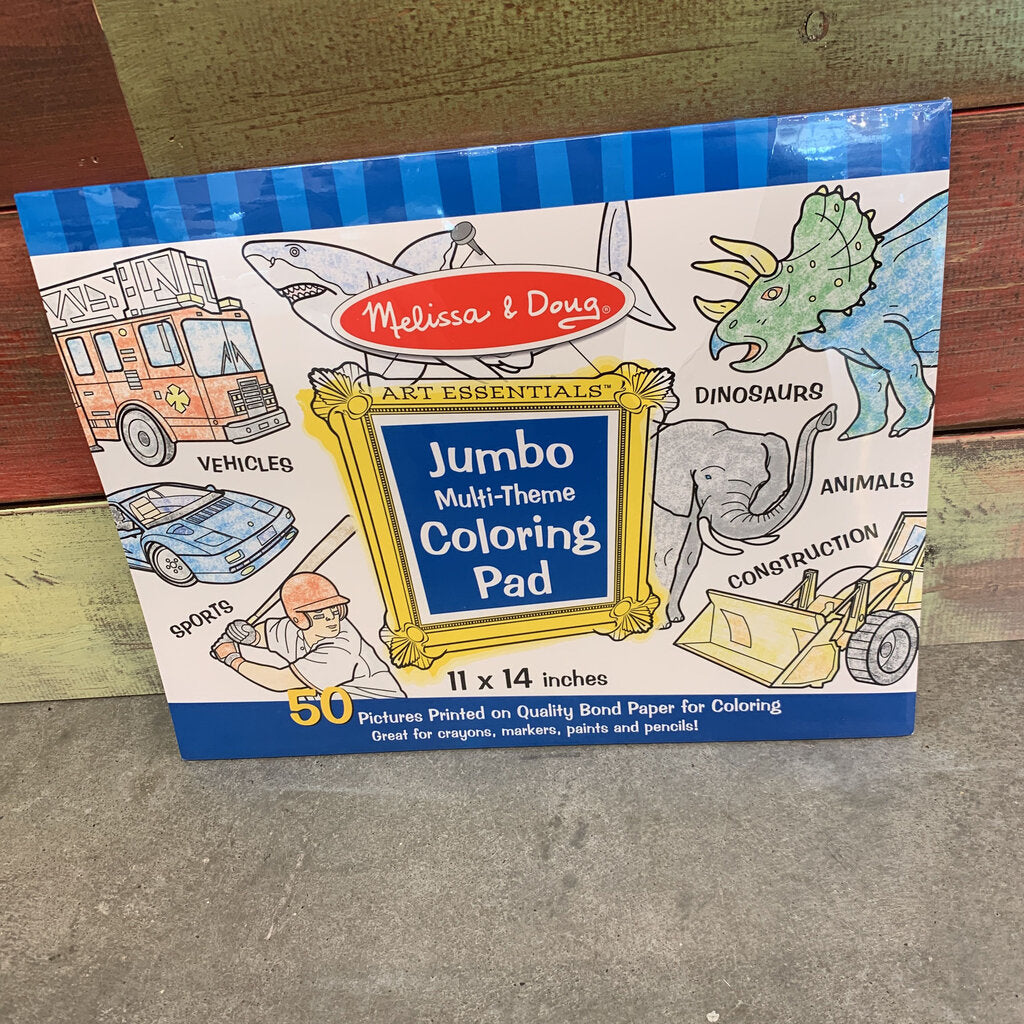 Jumbo Coloring Pad ~ Blue
