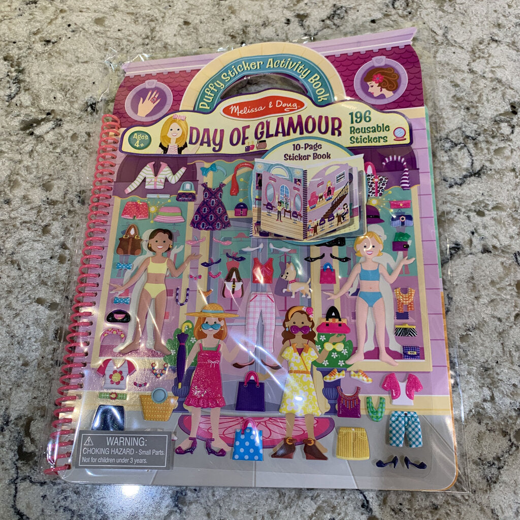 Deluxe Puffy Sticker Album Day of Glamour