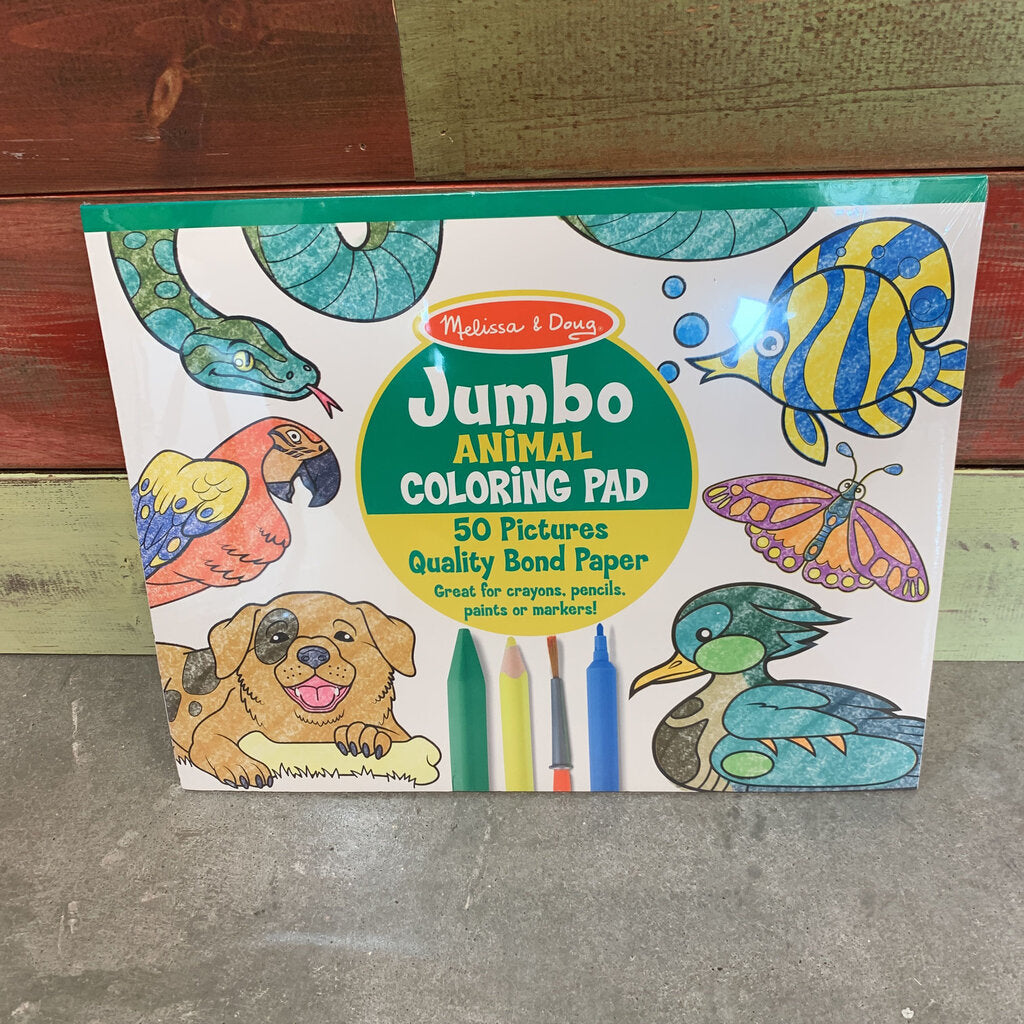 Jumbo Coloring Pad~Animal