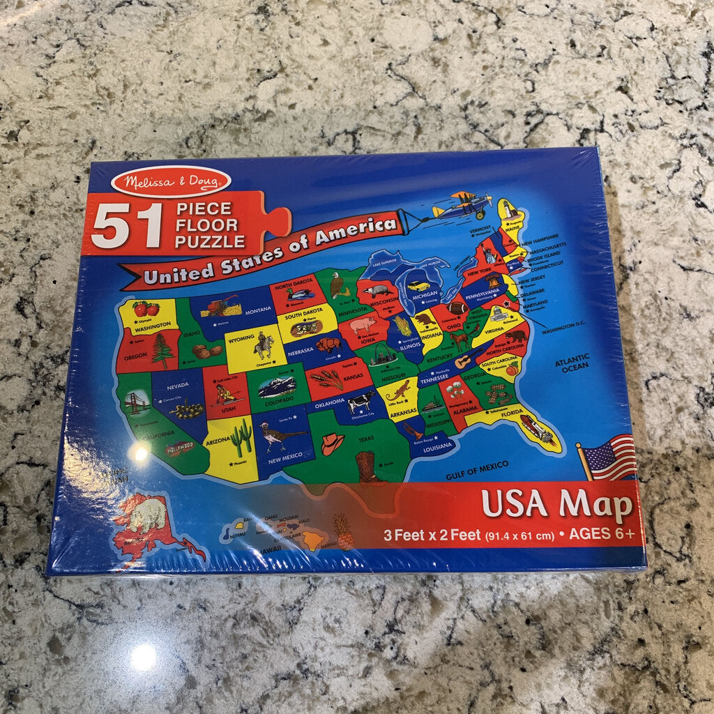 USA Map 51 pc Floor