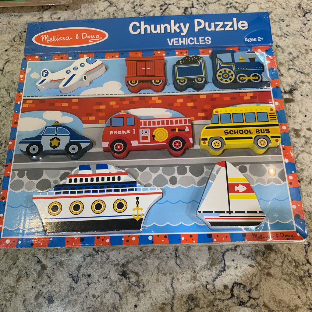Vehicles Chunky Puzzle