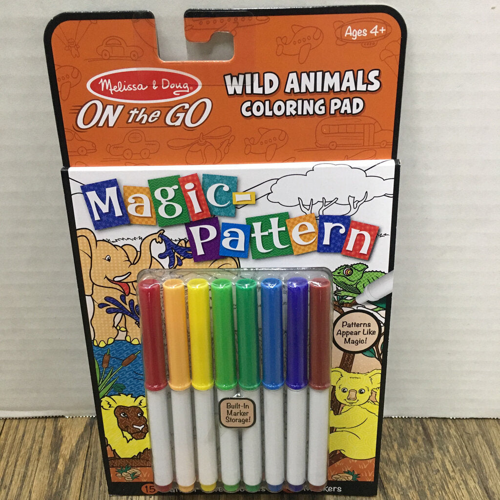 On the Go Magic Pattern Pad~Wild Animals