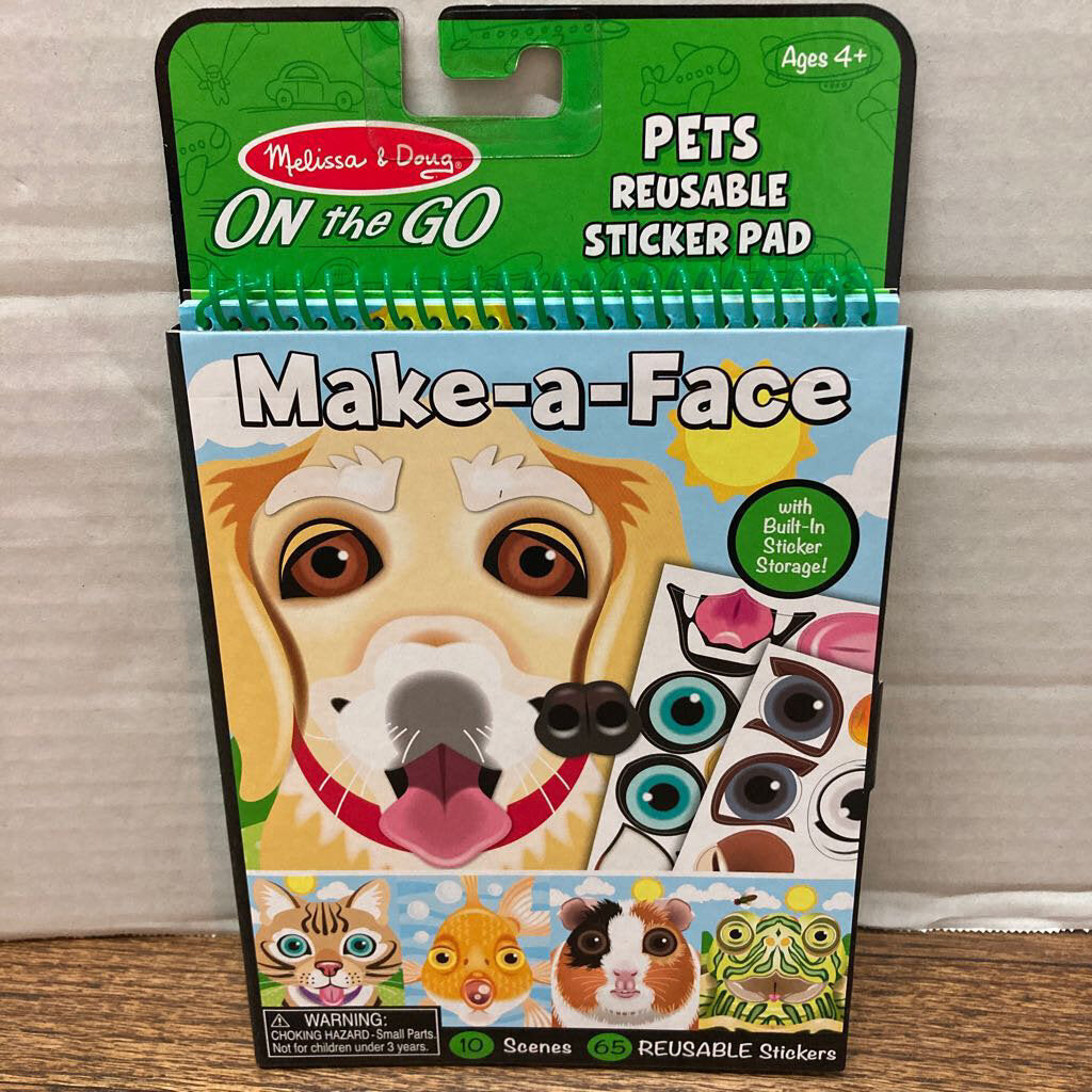 Make a Face Pets Reusable Sticker Pad