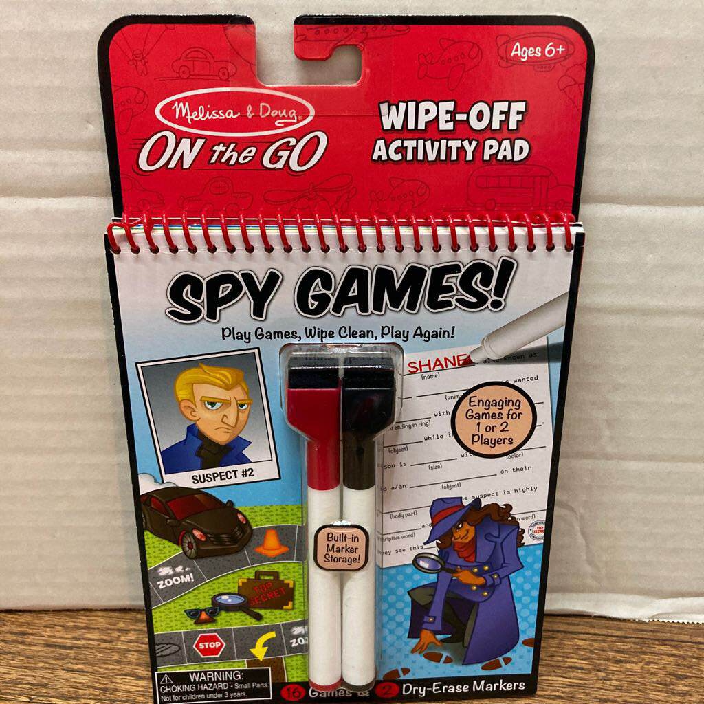 Wipe Off Activity Pad~Spy