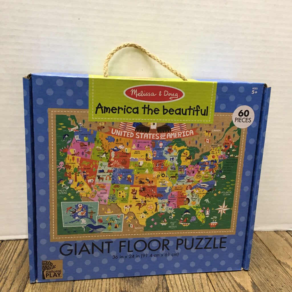 Natural Play Giant Floor Puzzle~America the Beautiful