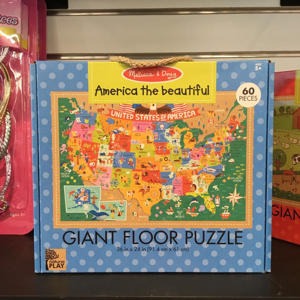 Natural Play Giant Floor Puzzle~ America the Beautiful