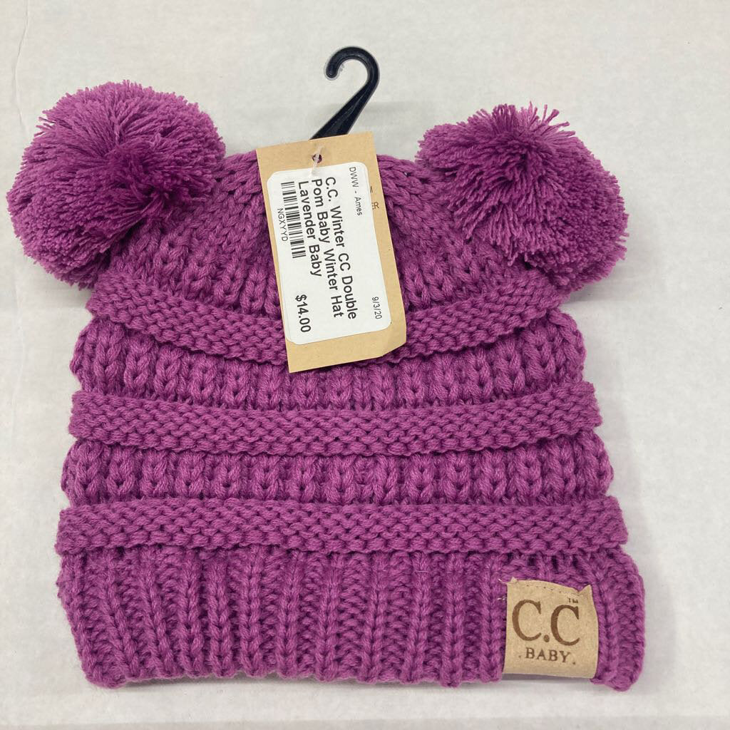 Infant Double Pom Baby Winter Hat