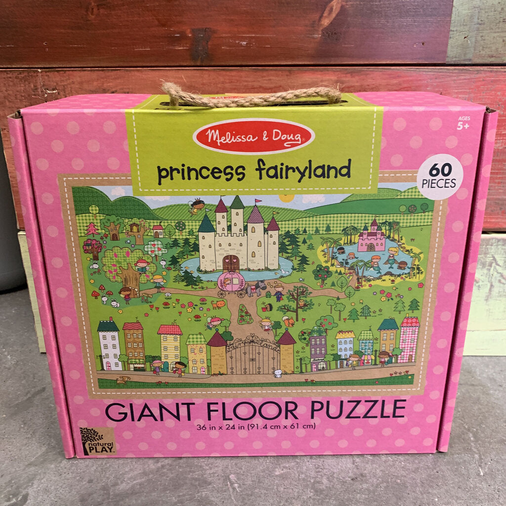 Natural Play Giant Floor Puzzle~ Princess Fairyland