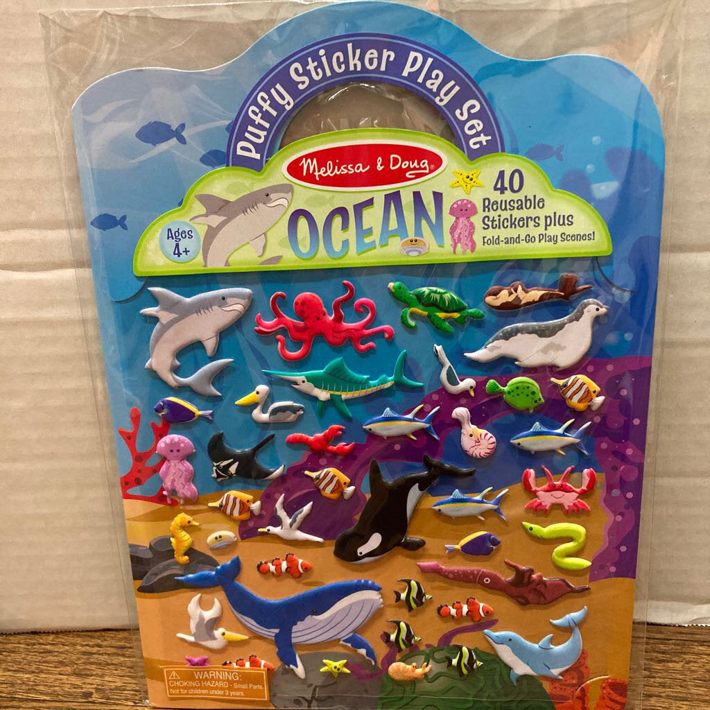 Puffy Sticker Play Set Ocean