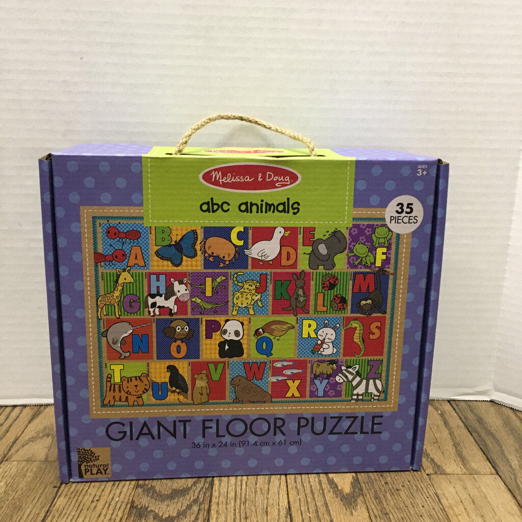Natural Play Giant Floor Puzzle ABC Animals