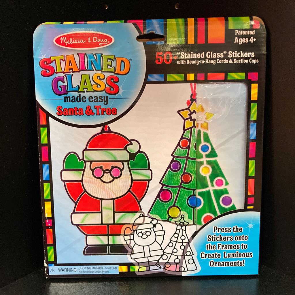 Stained Glass Made Easy Santa and Tree