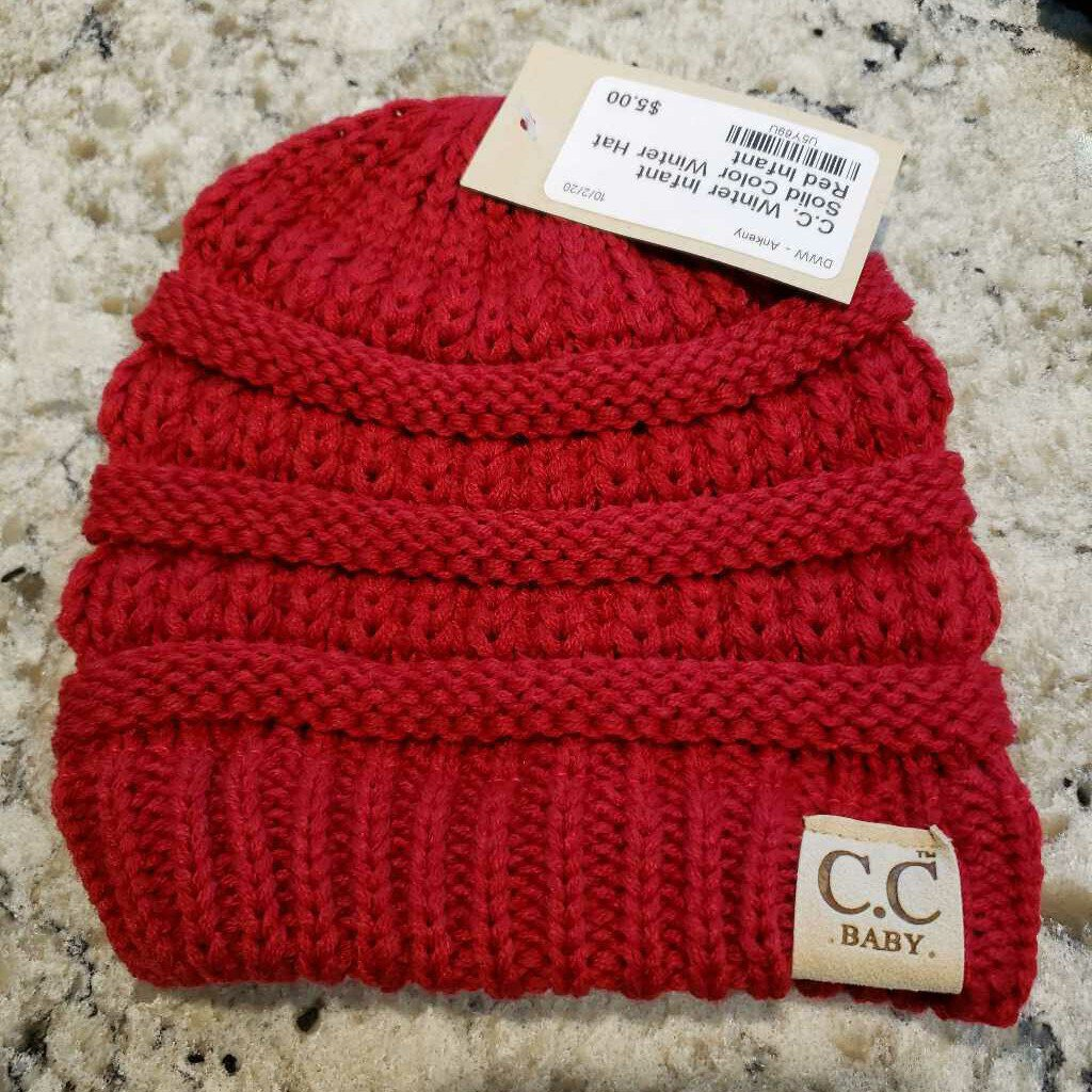 Infant Solid Color Winter Hat