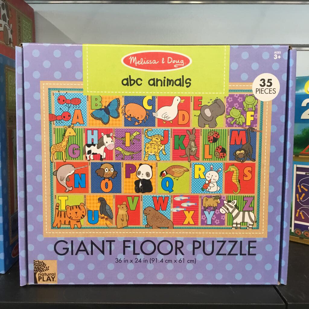 Natural Play Giant Floor Puzzle~ ABC Animals