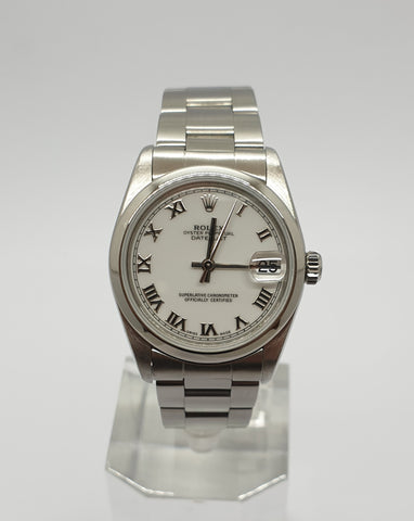 Rolex Datejust Quadrante bianco Full-Set