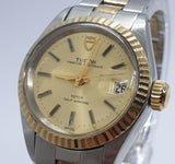 Tudor Princess Oysterdate Rolex Steel Gold 18 kt Rotor Self Winding