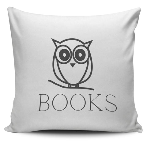 Book Owl Pillow Cover