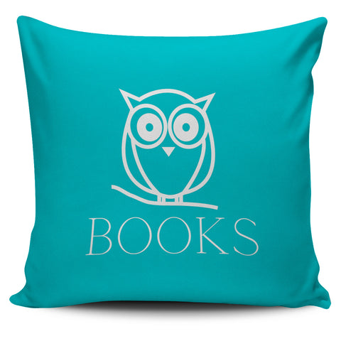 Blue Book Owl Pillow Cover