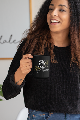Night Reader Black Mugs - A Bookish Haven