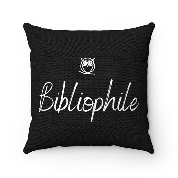 Bibliophile Square Pillow - A Bookish Haven