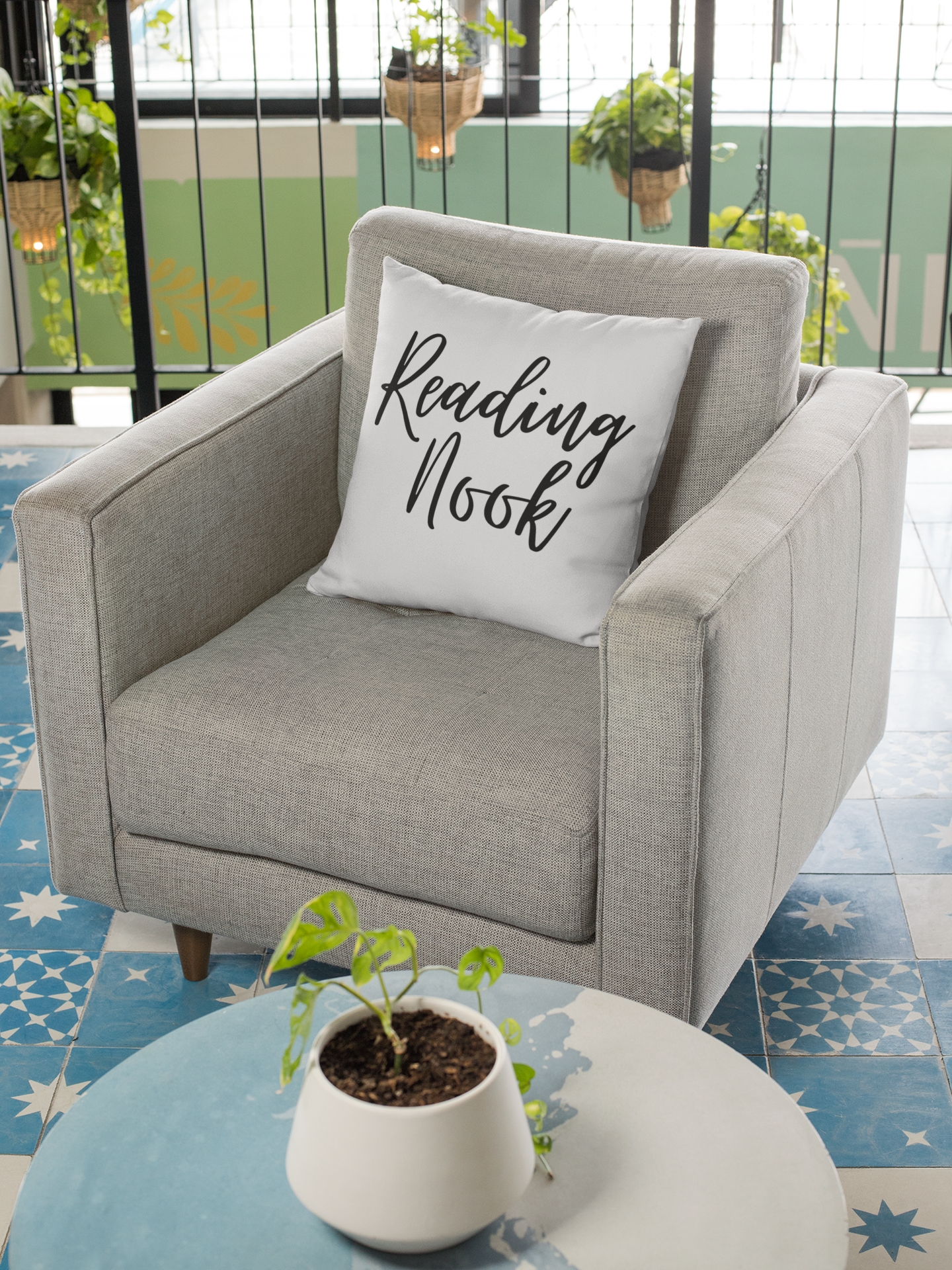 Reading Nook Pillow - A Bookish Haven