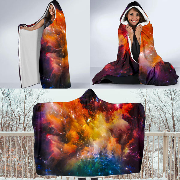 Galaxy Only Hooded Blanket