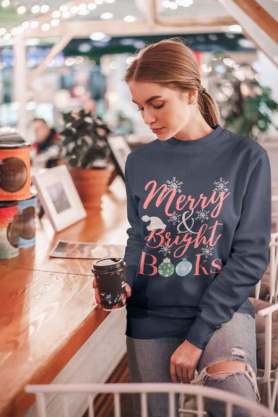 Merry and Bright Books Sweater
