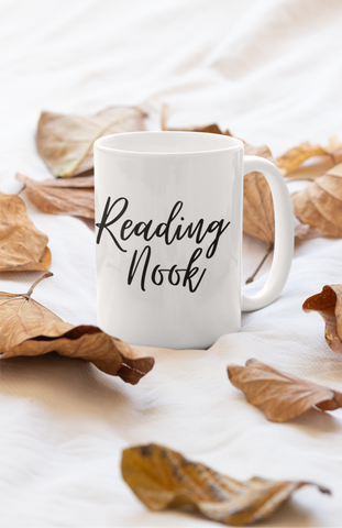 Reading nook Mug 15 oz - A Bookish Haven