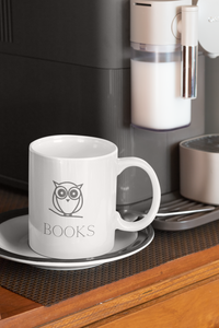 Book Owl Mug 11oz - A Bookish Haven