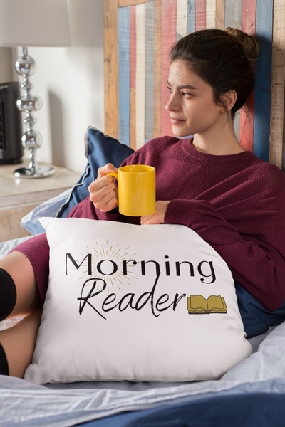 Morning Reader Pillow - A Bookish Haven