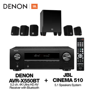 DENON AVR-X550BT | JBL Cinema 510 Package